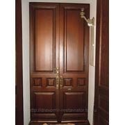 Реставрация деревянных дверей фото