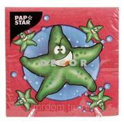 Салфетки 3-х слойные 33х33см 20шт морские звезды (852525) фото