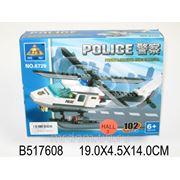 Конструктор 6729 вертолет полиция 102 детали в коробке 19*4,5*14см (832504) фото