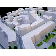 Макет жилого комплекса условной детализации фото