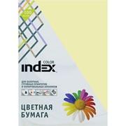 Бумага офисная Index Color, А4, 100 л, желтый, 80 г фото