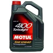 Моторное масло MOTUL 4100 Turbolight 10W40 4л фото