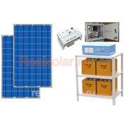 Солнечная электростанция для дома 460Вт 2кВт МАП SIN Pro 24В АКБ 450 а*ч фото