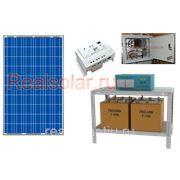 Солнечная электростанция для дома СБ 230Вт 2кВт МАП SIN 24В АКБ 225а/ч фото