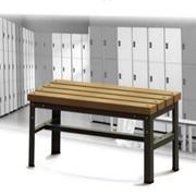 Скамейка с деревянным покрытием длиной 800мм фото
