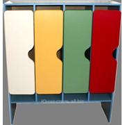 Шкаф 4-х секционный М-89-4 размер 112х42х130 фото