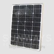 Солнечная батарея 50 Вт Ватт ФСМ-50 монокристаллическая фото