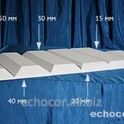 Отделка фаской акустических панелей ЭхоКор 50 мм фото