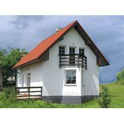 Дом кирпичный энергоэффективный 8,7 х 6,9м