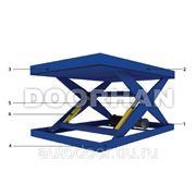 Подъемный стол DorHan г/п 1000 кг, высота подъема 1400 мм, размеры 2500х1500 мм фото