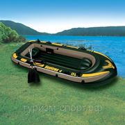 Лодка Sea Hawk 4s, 4-мест.(+насос,алюм.весла) 338x127x50 cм (370 кг) фото