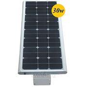 Уличный фонарь на солнечной батарее 30W, Датчик движения