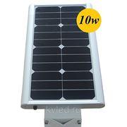 Уличный фонарь на солнечной батарее 10W, Датчик движения фото