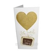 Шоколадная открытка Поздравительная открытка с шоколадом С.ШПг116.10-фб фото