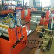 Линия продольной и поперечной резки металла в КНР фото