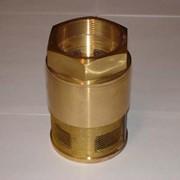 Клапан приемный сетчатый латунный КПЛ-100 фото