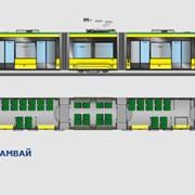 П`ятисекційний трамвай T5B64 «Електрон»