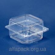 Одноразовая блистерная упаковка ПС-100, 135*130*77 фото