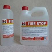 Огнебиозащита для дерева.FIRE STOP средство для защиты древесины (концентрат 1: 4) 1л фото