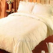 Постельное белье с вышивкой и кружевом 2703 Простыня и наволочка фото