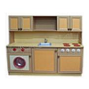 Игровая мебель Кухня с верхними полками фото