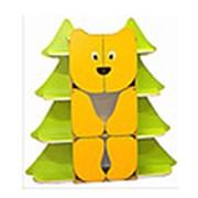 Стеллаж для пособий и игрушек Мишки в лесу № 1 фото