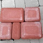 Плитка тротуарная Старый город красный цвет фото