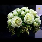 Белые розы и смородина G-0004 фото