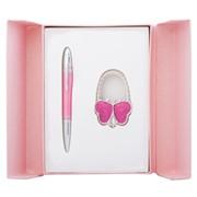 Набор подарочный Langres Lightness: ручка шариковая + крючек для сумки, розовый LS.122030-10 фото