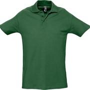 Рубашка поло мужская SPRING 210 темно-зеленая, размер XL фото