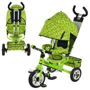 Велосипед М 5361-2 надувные колеса 3шт колясочный зеленый фото