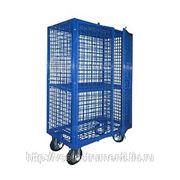 Платформенная 4-х колесная тележка-контейнер тг-7п 200-к фото