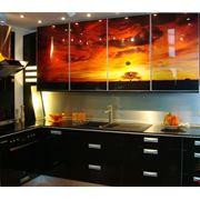 Панель стеновая для кухни из стекла - Скинали фото
