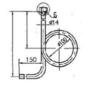 Трубка демпферная угловая наружное кольцо накидной ниппель G 1/2 цинк. фото