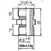 Переходной ниппель G 1/2х20-1,5 цинк. фото