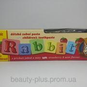 Rabbit детская зубная паста Клубника, 45 г + щеточка фото