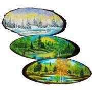 Панно на дереве 115 см. арт- 141620-115 фото