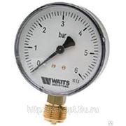Манометр радиальный Watts MDR 100/16 x1/2 (0-16 бар) фото