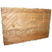 Картина-панно из кедра №13 для бани фото