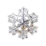 Фигура Снежинка №2 фольг сереб 90см фото