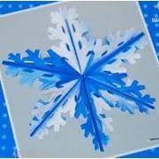 Фигура Снежинка №4 фольг серебр/син 60см