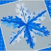 Фигура Снежинка №4 фольг серебр/син 60см фото