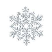 Снежинка пластик блеск серебр 16см фото