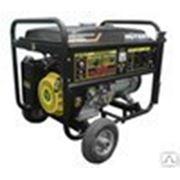 Бензиновый генератор Huter DY8000LX с колесами фото