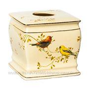 Бокс для салфеток (салфетница) Gilded Birds фото