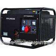 Генератор бензиновый Hyundai HY7000SE-3, 400 В, 5.0 кВт, электростартер, 92 кг, professional фото