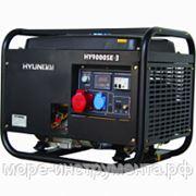 Генератор бензиновый Hyundai HY9000SE-3, 400 В, 6.0 кВт, электростартер, 92 кг, professional фото