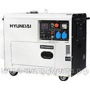 Генератор дизельный Hyundai DHY6000SE, 230 В, 5.0 кВт, электростартер, 152 кг, professional фото