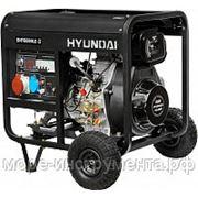 Генератор дизельный Hyundai DHY8000LE-3, 400 В, 5.5 кВт, электростартер, 114 кг фото