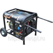 Электрогенератор бензиновый Huter DY6500LXW,с функцией сварки,с колёсами фото